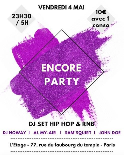 Soiee Encore Party A L Etage Bon Plan A Paris
