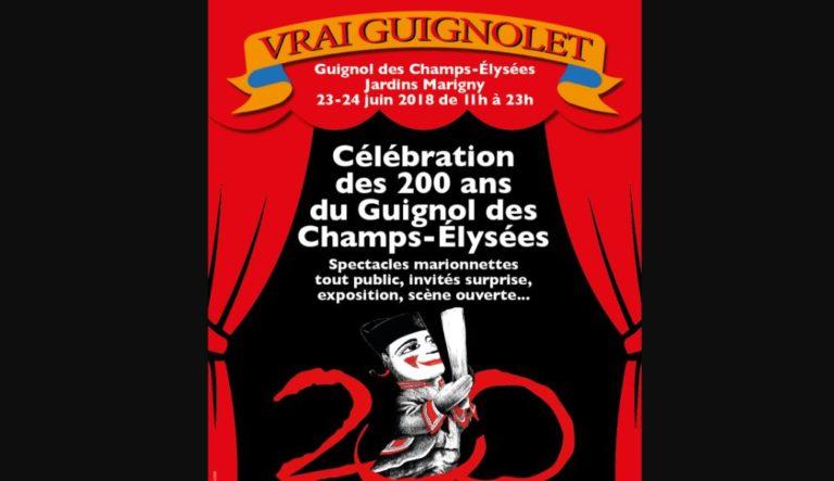 Célébration des 200 ans du Guignol des Champs-Elysées